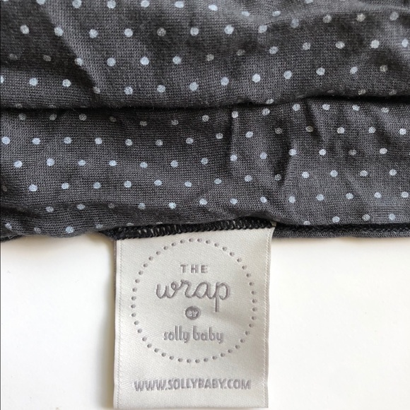 solly baby Other - The wrap by solly baby - charcoal Swiss dot